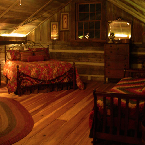 Our Stone Cabin Inn Bed and Breakfast at Dull's Christmas Tree Farm in Thorntown, IN is a great romantic getaway just north of Indianapolis!